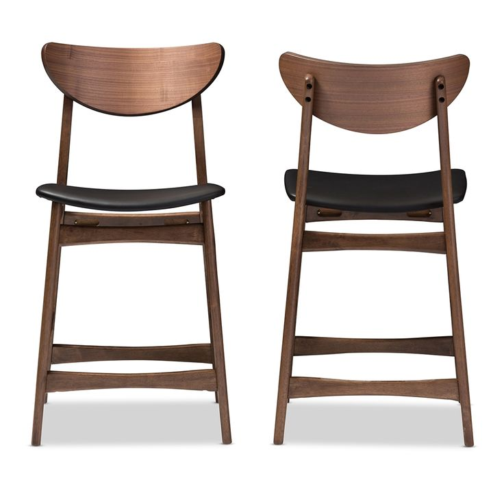 Elegant Leather Counter Bar Stools