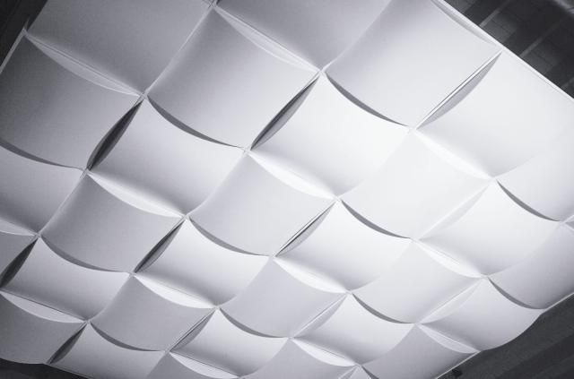 5 Playful, Wavy 3D Panels That Make Drop Ceilings Fun: Put These 3D Panels In Your Drop Ceiling Grid For a Startlingly Modern Look