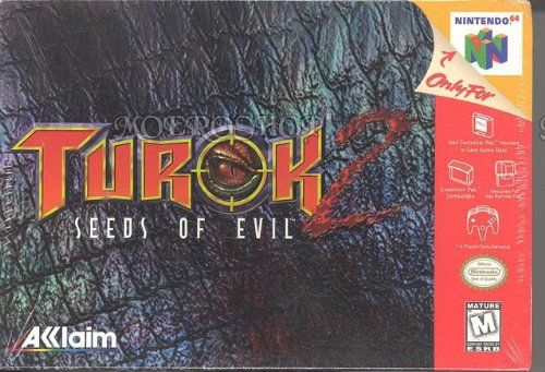Turok 2: Seeds of Evil. That's not going to be easy. In order to keep the Primagen from escaping, Turok must keep the wall between Earth and the netherworld secure. Expect to devote a significant chunk of time to this title: the estimated completion time for this game is 45 hours, which rivals The Legend of Zelda: Ocarina of Time in game size. There are over 30 enemies to battle, each with unique AI, and there are an additional five bosses each of which is unbelievably vicious...