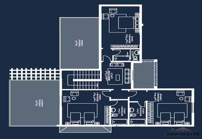 نموذج فيلا برنامج الشيخ زايد 8 Arab Arch Architecture Plan Floor Plans House Plans