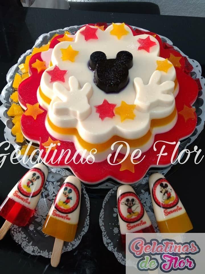 Micky Mouse Gelatin Gelatina De Micky Mouse Pastel De Gelatina Gelatinas Para Fiestas Gelatinas Infantiles