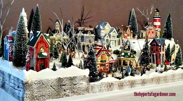 A miniature Christmas village is such a fun thing at Christmas but it is a lot of work and can be very expensive. You learn to improvise!