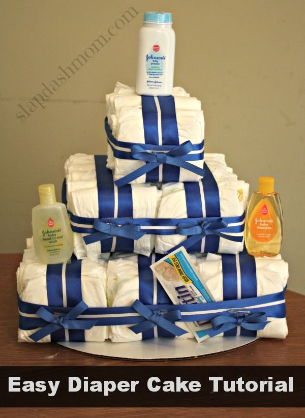 Easy Diaper Cake Tutorial: DIY Diaper Cake for Under $15 #giftideas #babyshower
