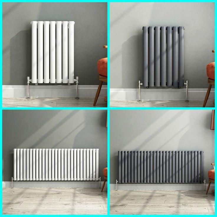 Inspirational Horizontal Designer Oval Column Panel Bathroom Radiators Black White Anthracite