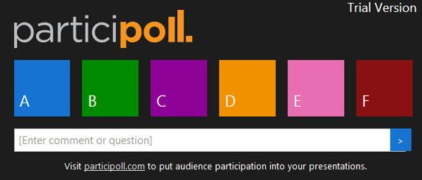Free BYOD Class Polling in PowerPoint with Participoll