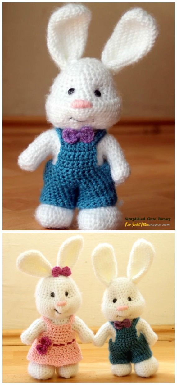 Crochet Amigurumi Bunny Toy Free Patterns Instructions | Crochet ... | 1240x570