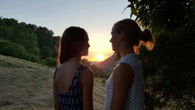 Me and my sister #sunset #nofilter