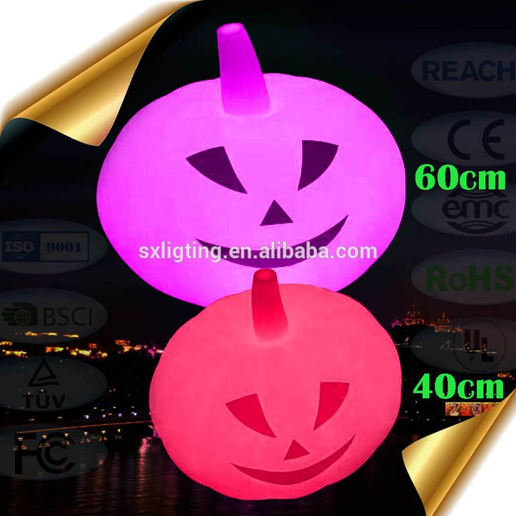 Halloween Children Party Supplies Super 40cm LED Light up Pumpkin with color change flashing Light