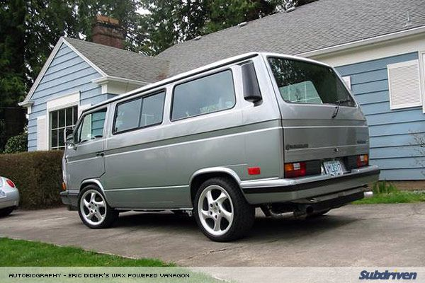 Subdriven: A/b - 1987 VW Vanagon With WRX Engine Swap