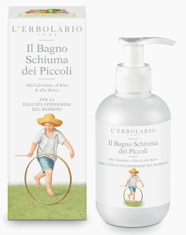 Il Bagno Schiuma dei Piccoli Alla Calendula, al Riso & alla Malva http://www.erbolario.com/prodotti/653_il_giardino_dei_piccoli_2014_il_bagno_schiuma_dei_piccoli