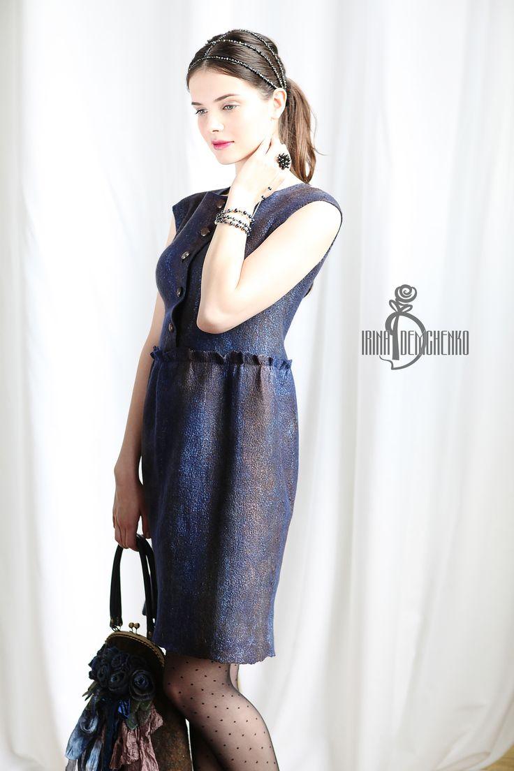 #fashion #style #love #cute #beautiful #girl #women #design #model #dress #styles #outfit #designer #irinademchenko #summertime #summer #felt #feltfashion #2015 #new #collection