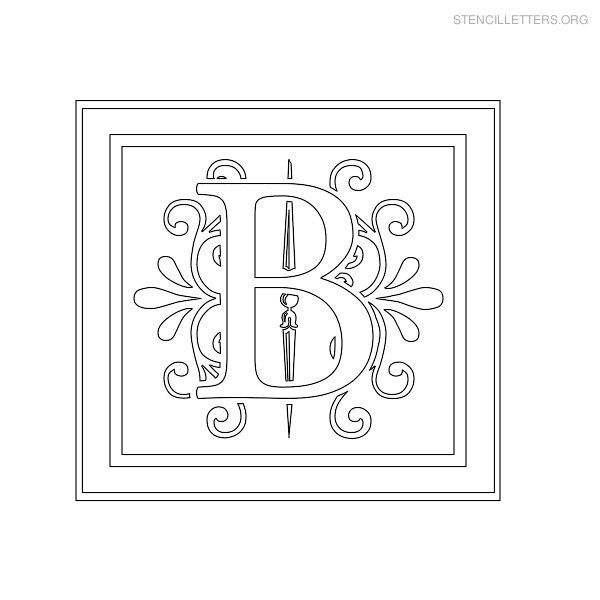 stencil letter decorative b diy crafts pinterest letter stencils stencils and lettering