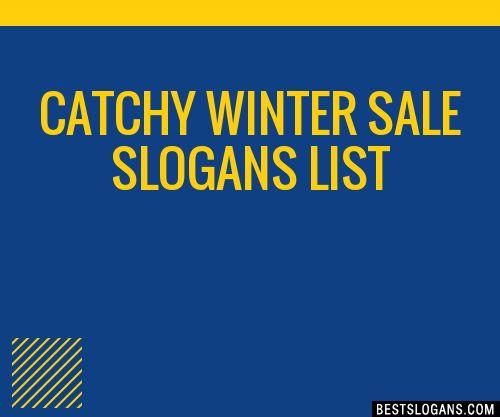 30+ Catchy Winter Sale Slogans List, Taglines, Phrases & Names 2018