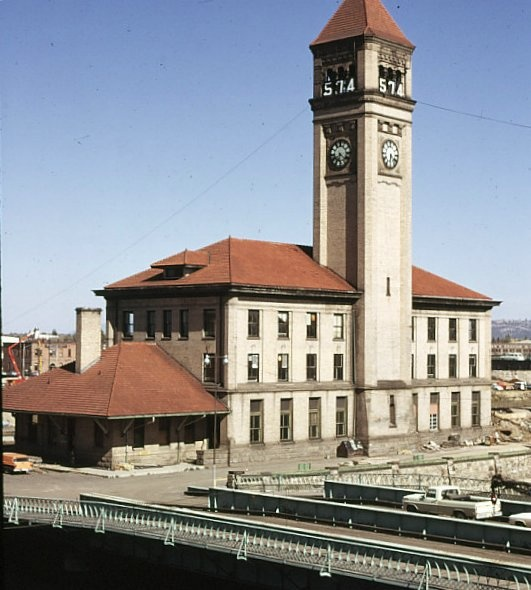 The old Great Northern Railroad Station in Spokane.
