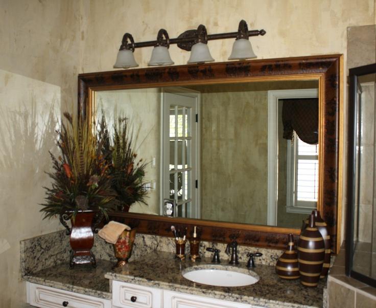 Frame Your Existing Bathroom Mirror Servicing Metro Atlanta Frameitmirrordesigns