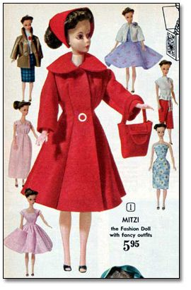 Eaton's Christmas Catalogue, 1962: Doll and clothing