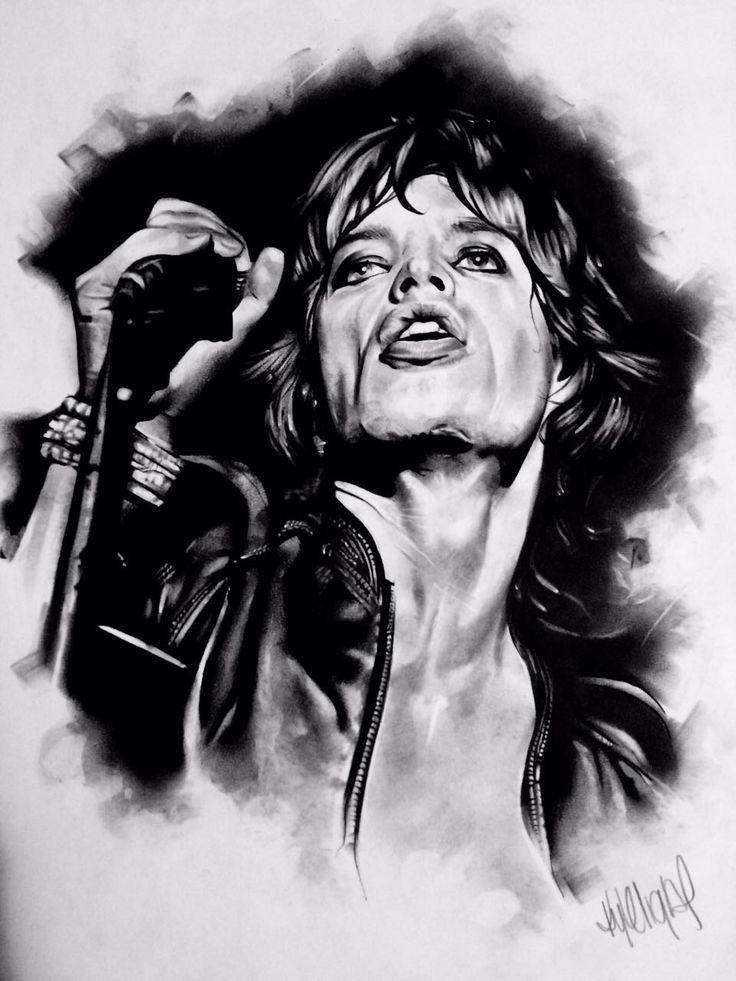 Jagger Charcoal Original - size A2 portrait. R2,500.00 (incl. VAT). Framed (white wood)