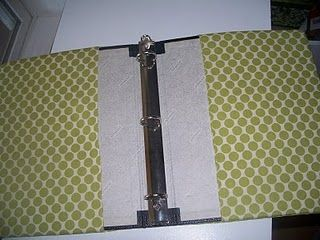 tutorial for covering a 3-ring binder with fabric