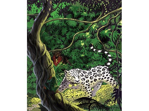 White Leopard artwork by Samuel Sakaria - Watermark Illustration.