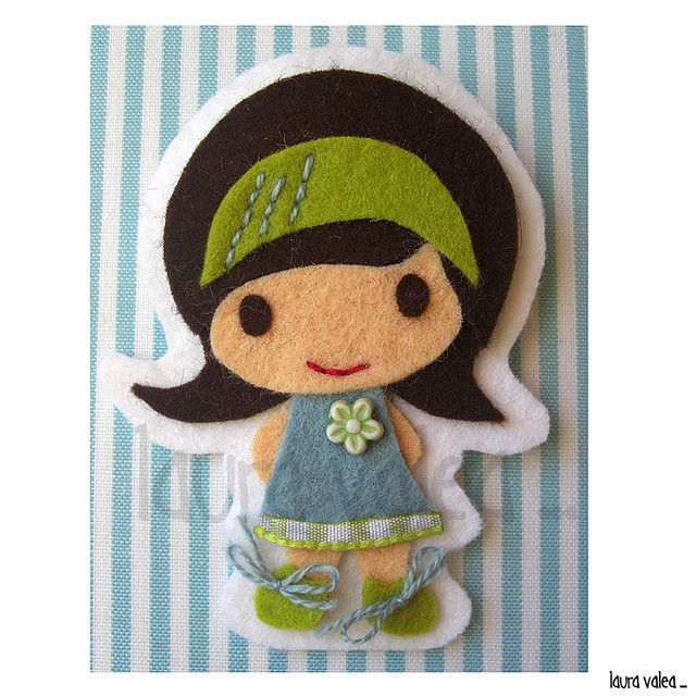 Felt Doll Brooch