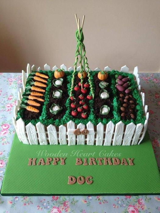 i made this cake for my friends brothers birthday he loves his garden and i loved making this for him
