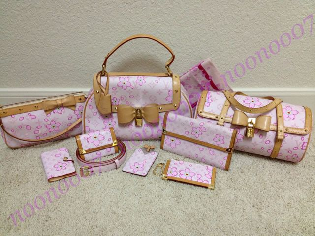 18c6b6bf7d0d Full Louis Vuitton Takashi Murakami Cherry Blossoms 2003 Collection in Pink  (want!!)