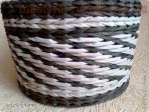 Мастер-класс по плетению из газет: Три из одного