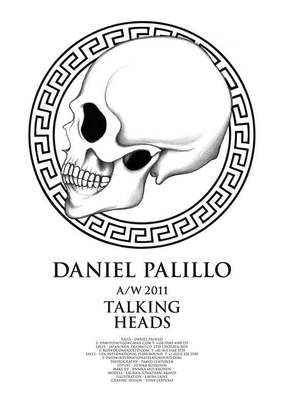 Daniel Palillo, poster, look book a/w 2011