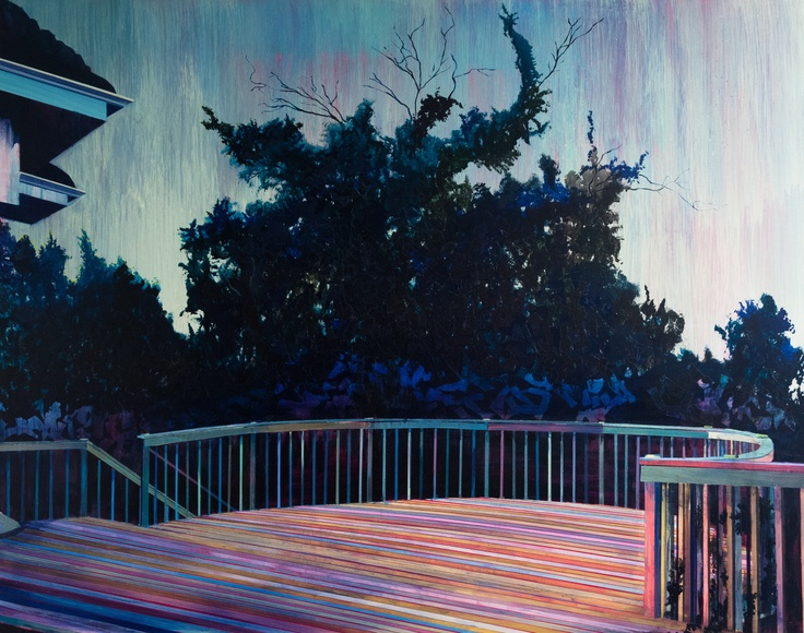 Every Wichita Dusk by Robert Josiah Bingaman (2011) Acrylic on linen, 45 x 57 in.