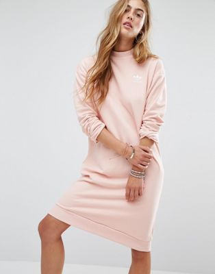 adidas Originals - Robe en molleton à motif camouflage pastel - Rose pâle 59,99 €