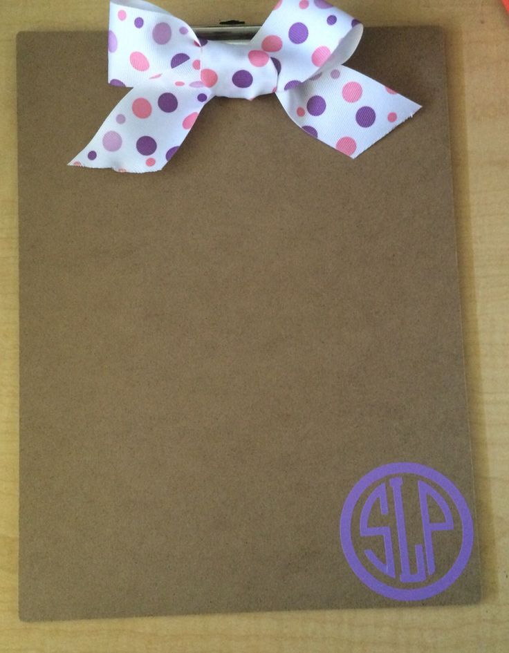 Clipboard gift for a speech language pathologist