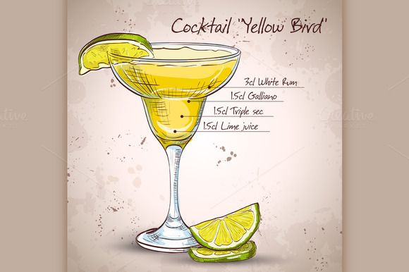 156 best images about cocktail on pinterest alcoholic for Cocktail yellow bird