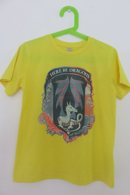 Yellow Here Be Dragons T-shirt
