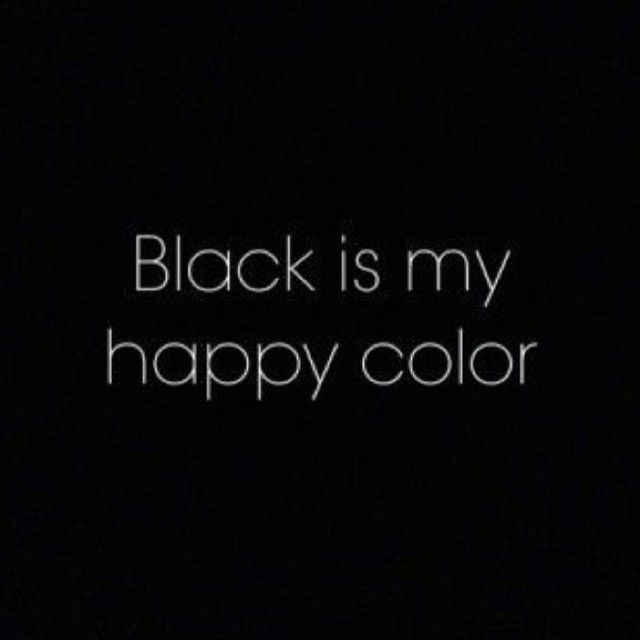 It is the only colour that makes me truly happy...