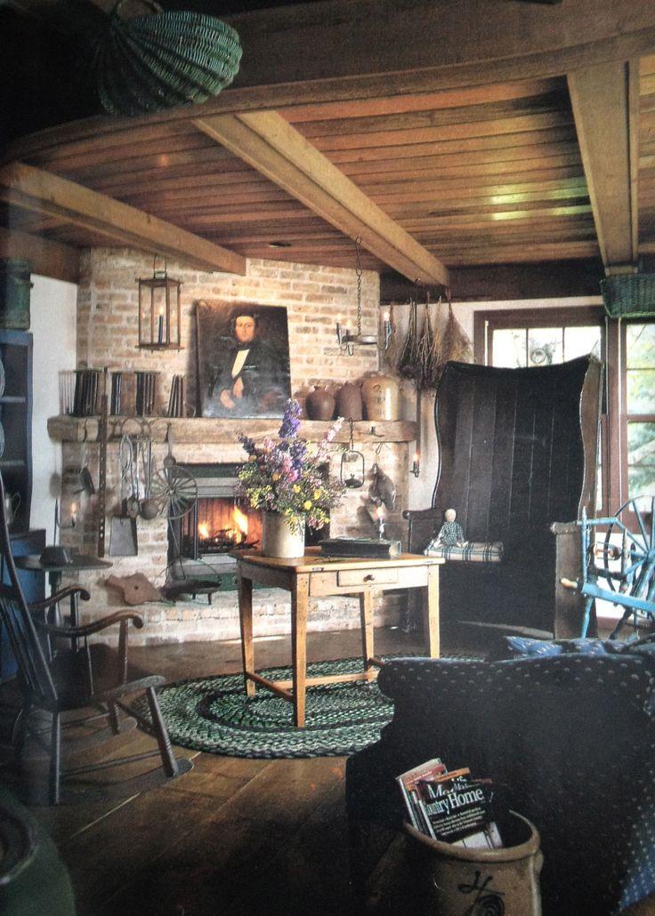 Primitive Living Room Decor: 232 Best Keeping Room Images On Pinterest