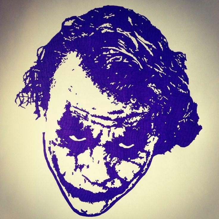 The Joker (cinematic), Purple fineliner, A3