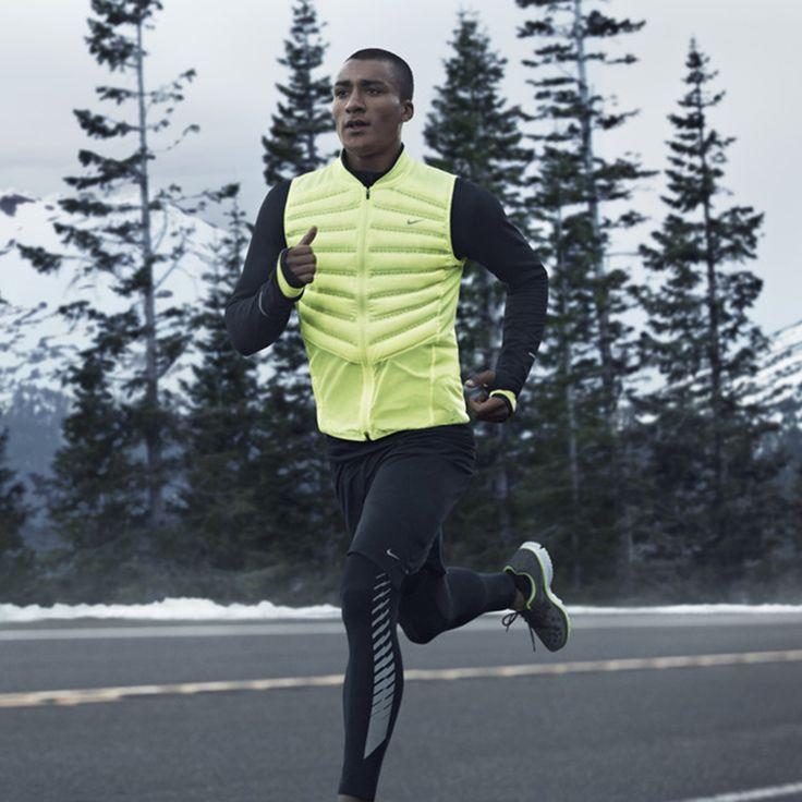Nike Aeroloft 800, Men's Running Vest - Not in Yellow black only