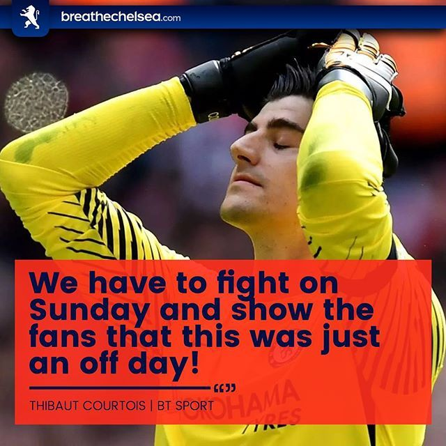 Thibaut Courtois insists that Chelsea must prove their worth to the fans and fight against Manchester United on Sunday 👏🔵 ・・・ #BreatheChelsea #CFC #ChelseaFC #CFCFamily #KTBFFH #Carefree #PremierLeague #EPL #ChampionsLeague #CL #UEFA