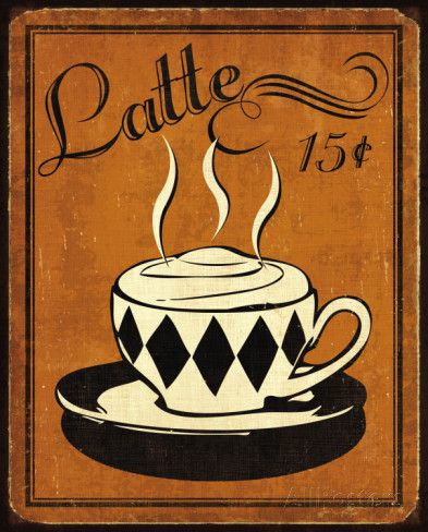 Retro Coffee IV Prints by N. Harbick at AllPosters.com