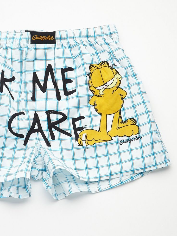 #GarfieldBoxers The character loves to eat, sleep and make merry, things that men usually believe in!