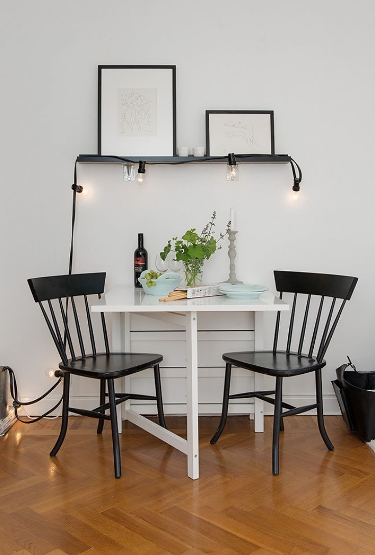 Lovely Small Dining Table for Studio Apartment