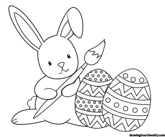 Easter Bunny Coloring Page Easter Coloring Book Bunny Coloring Pages Free Easter Coloring Pages