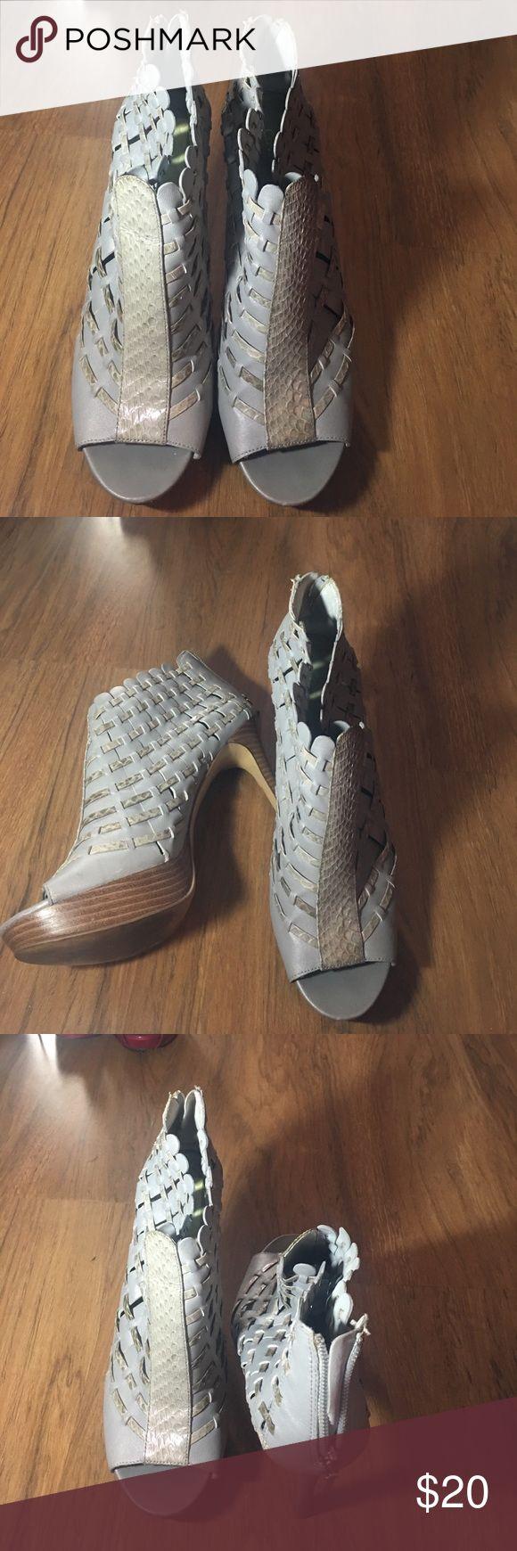 Grey Calvin Klein Heels Good condition Calvin Klein Shoes Heels
