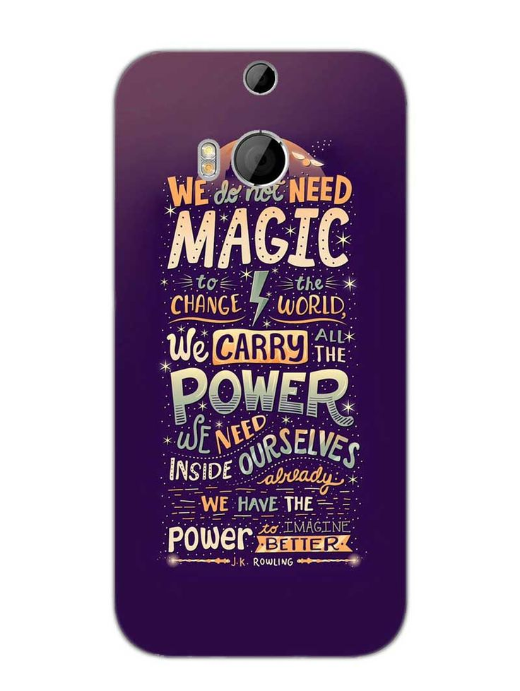 Harry Potter Quote   Designer Mobile Phone Case Cover For HTC One M8