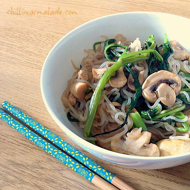 Shirataki noodle stirfry recipe for The Fast Diet, or 5:2 diet via ChilliMarmalade.com