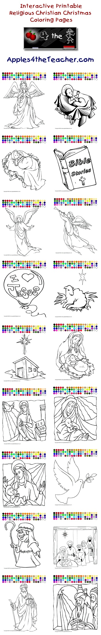 Printable interactive Christmas coloring pages, Christmas coloring ...