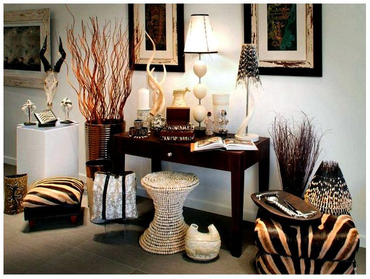 African Safari Living Room Decor Con Diseo Elegante Ideas Africanos Estilo Sala