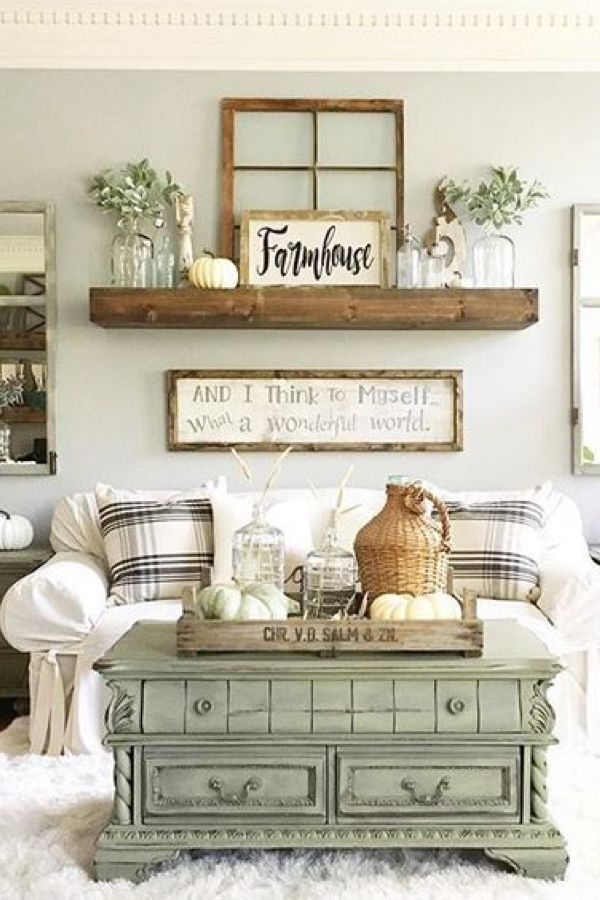 15 Gorgeous Farmhouse Decor Ideas For Your Living Room Room Wall