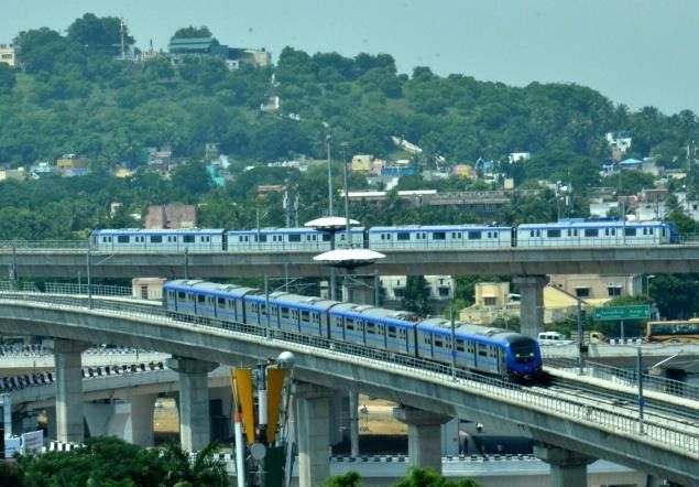 Chennai metro rail.