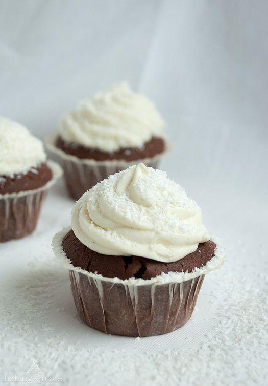 Schoko-Kokos-Cupcakes {Chocolate Coconut Cupcakes}